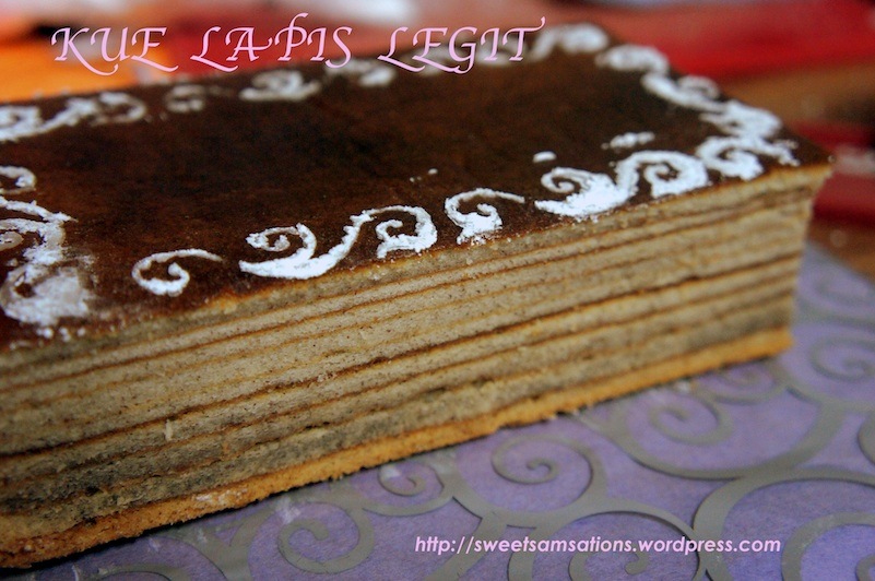 Indonesian Thousand Layer Cake Kue Lapis Legit Sweet