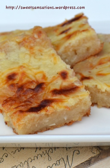 Cassava Cake With Macapuno Strings Recipe