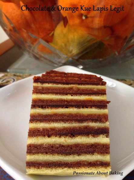 Orange and Chocolate Kue Lapis