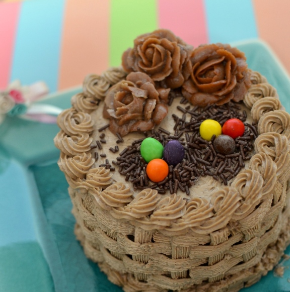 Easter Cake Roses Nest Eggs