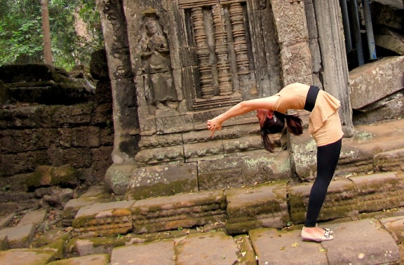 Bend it like Bikram Baby! @Angkor Wat