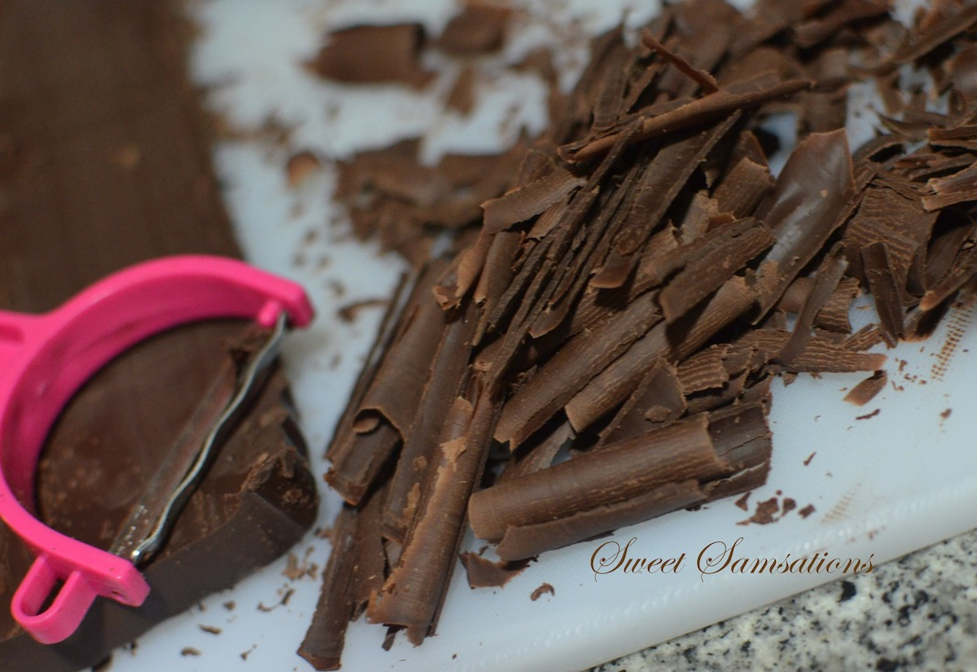How To Shave Chocolate For Cake Decoration