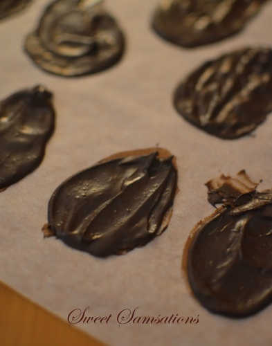 melted chocolate decoration
