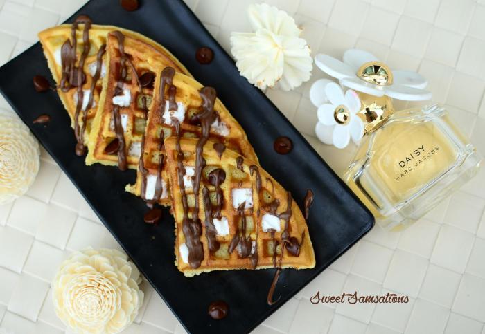 Smores recipe waffles