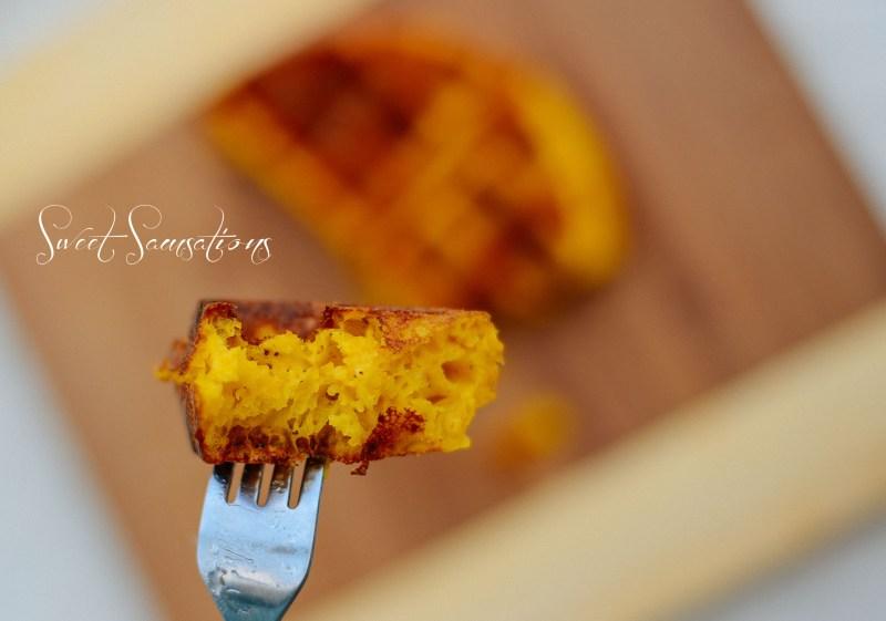 Fluffy Crispy Pumpkin Waffles