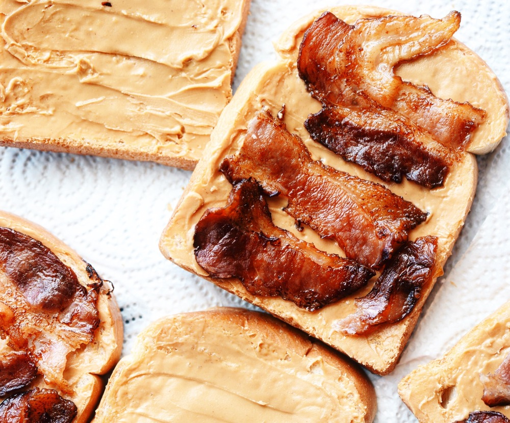 Peanut Butter and Bacon Toast